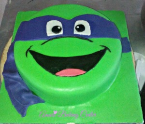 Finished pic of TMNT Cake - WM