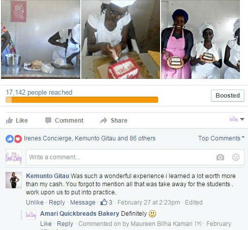 Our Bakers & Bakerettes are always happy after learning with us