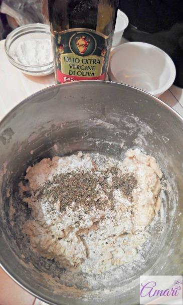 Herbal Bread mixing - step 1