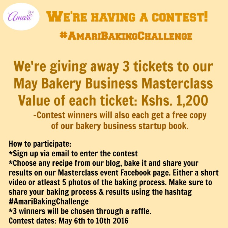 Amari Baking Challenge contest - May Masterclass