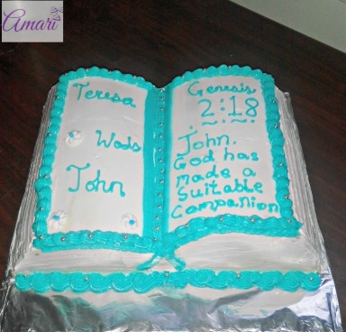 Finished Bible Cake