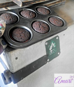 Chocolate cupcakes baked with cookswell oven - Amari WM