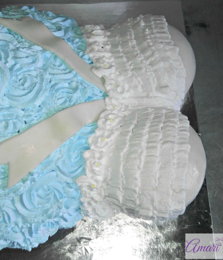 How To Make A Pregnant Belly Cake-Picture Tutorial