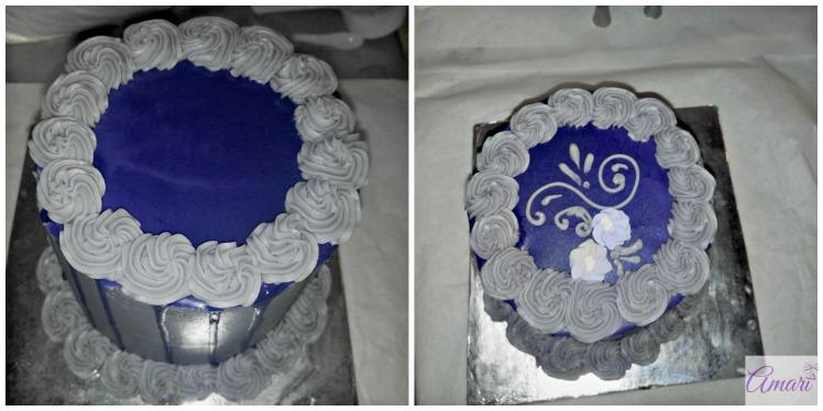 Decorating tall cake_Amari Recipe-WM