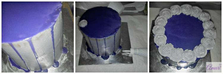 Decorate top & bottom with mini swirls