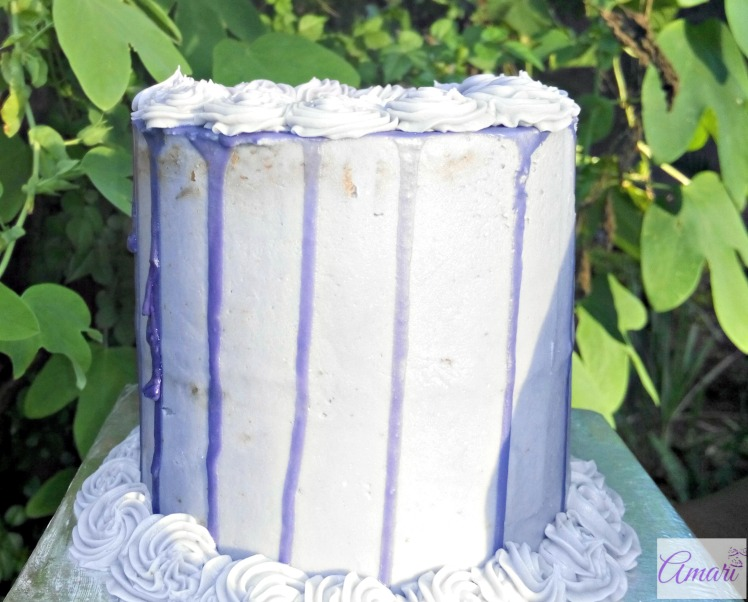 Simple tall vanilla cake