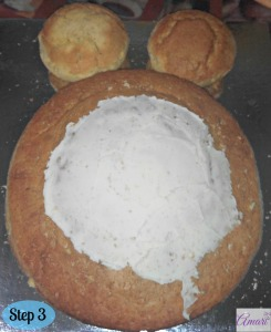 Tummy Cake B-cream Assembly_Step 3-Amari recipe