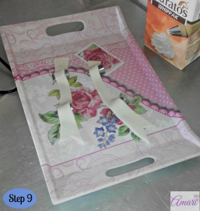 Tummy cake fondant ribbons_Step 9-Amari Recipe