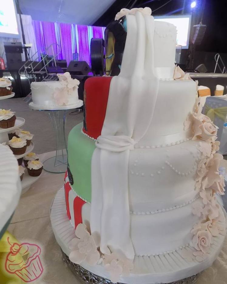 Beautiful 2 face wedding cake by cakes.co.ke