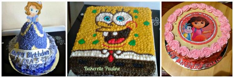 Pauline baking work - collage