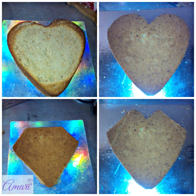 Shaping of heart cake_Amari blog recipes