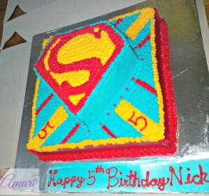 Superman BC Cake side view_Amari Cake Deco Tutorials