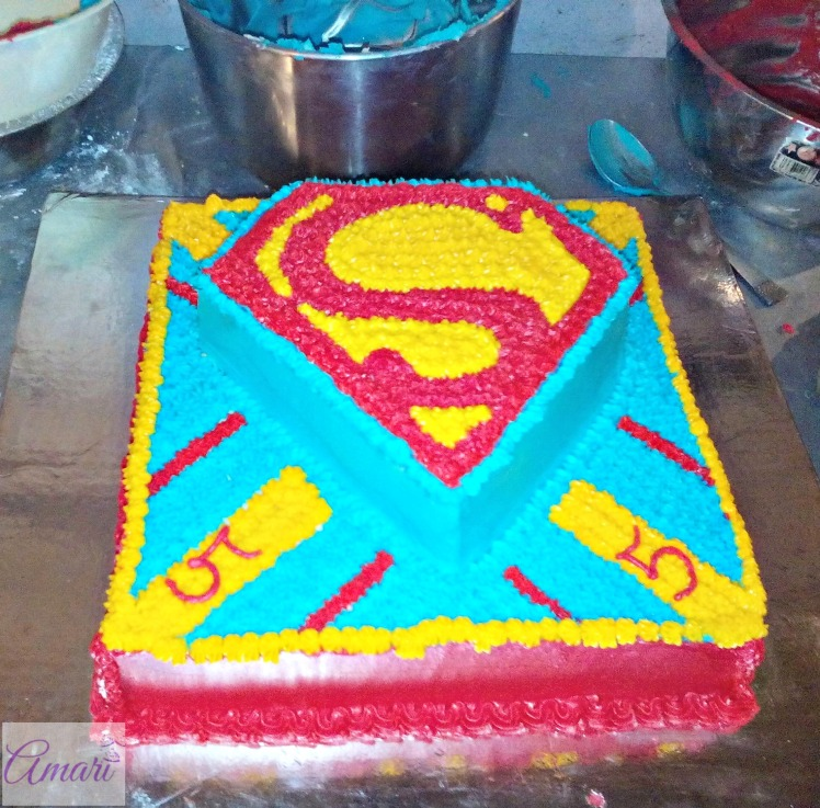 Superman Themed Buttercream Cake Tutorial Amari Baking Center