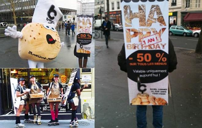 street-marketing-bagel-guerrilla-marketing