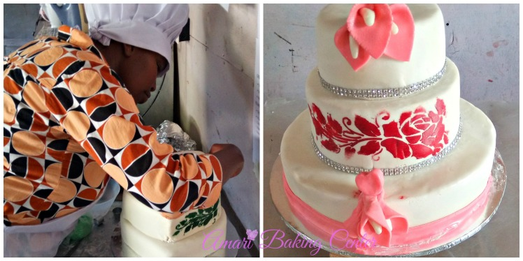 Wedding cake pictorial-Amari advanced cake class Feb 2017