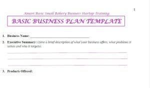 Amari Biz plan template