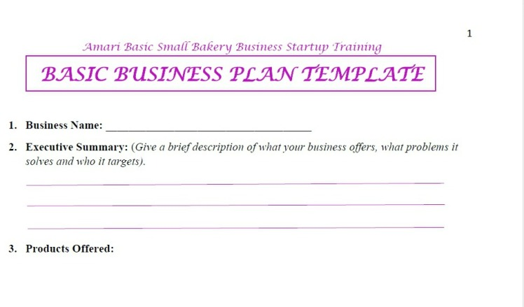 Amari Biz plan template