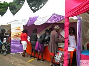 Amari Stand Cake Fest with visitors