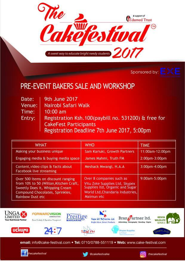 Cake Fest 2017 Pre Event Bakers Event