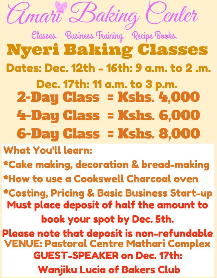 Amari Dec 2017 Nyeri Class Poster
