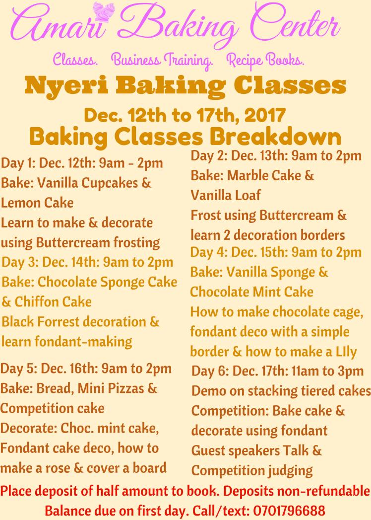 Amari Dec Nyeri Baking Classes Brkdwn 2017