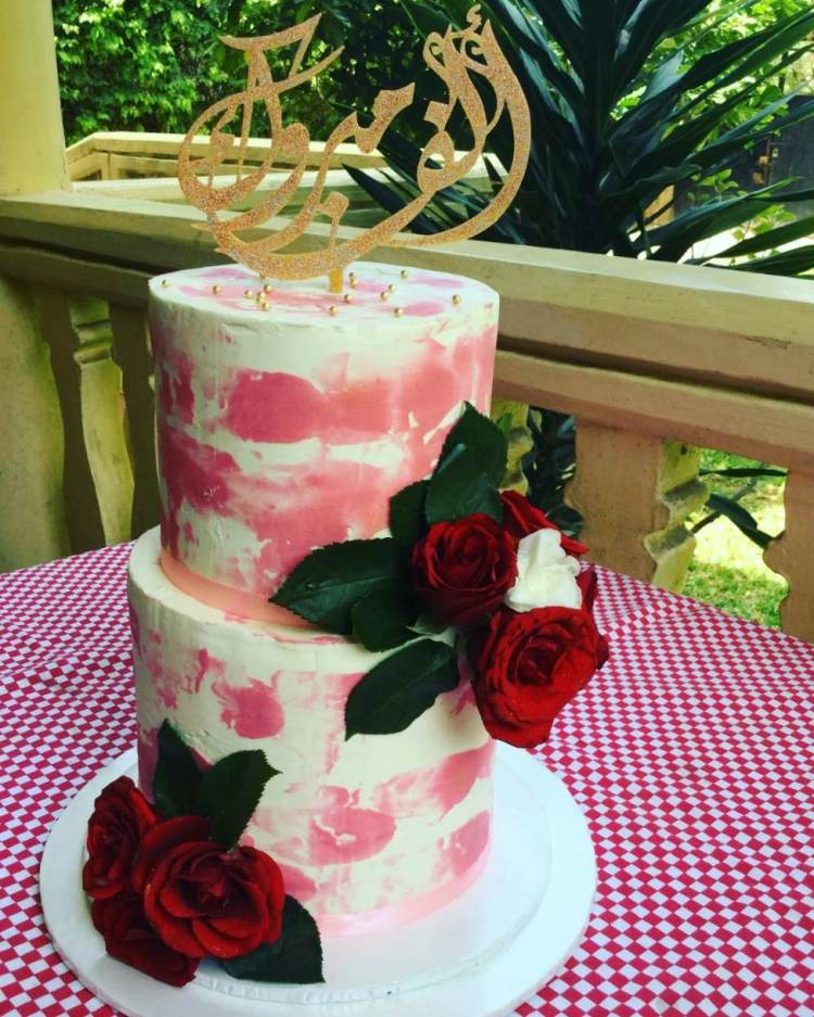 2tier Water color cake by Aboud Amal of Gatuex by Amal