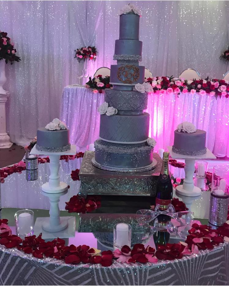 6 tier wedding cake by Samantha of Little Cake Girl