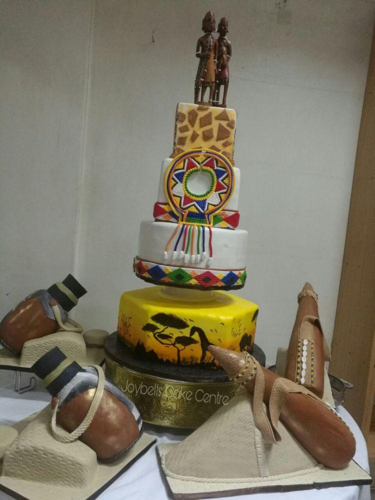 AFrican-themed Wedding cake- Joybells