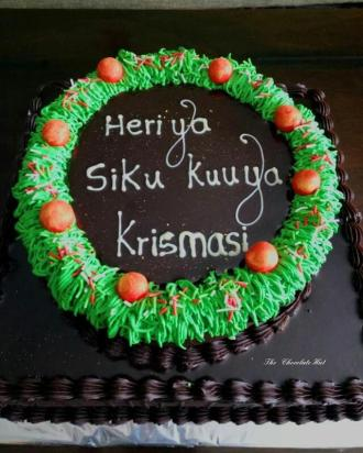 Christmas Cake by Chocolate Hut