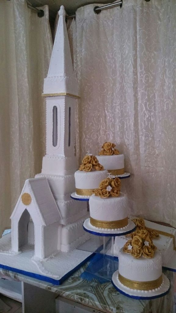 Church Wedding Cake - Valentine Cake House