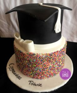 Graduation Sprinkles cake by Ruth - Taji Cakes