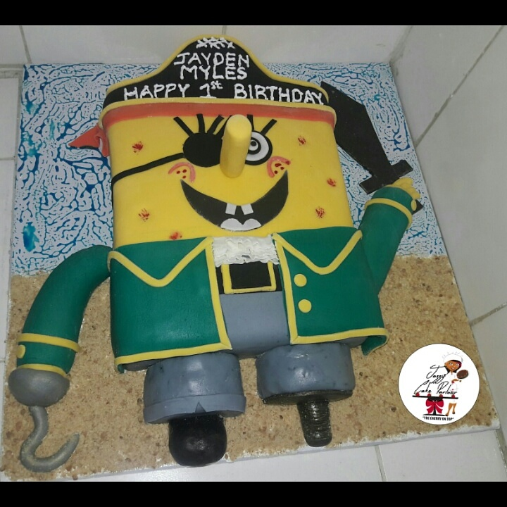 Pirate-themed cake by Eunice - Jazzy Cake Parlour
