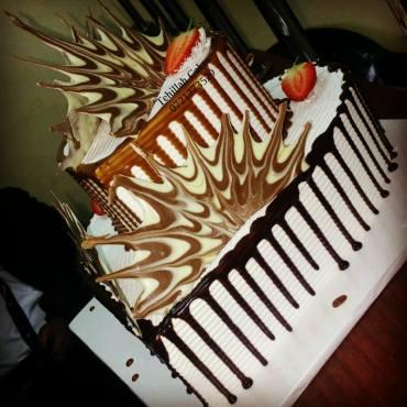 Tehillah Shard Cake Side view
