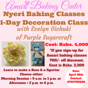 Nyeri Baking Classes_Evelyn - 1-Day Decoration Class April 2018 (1)