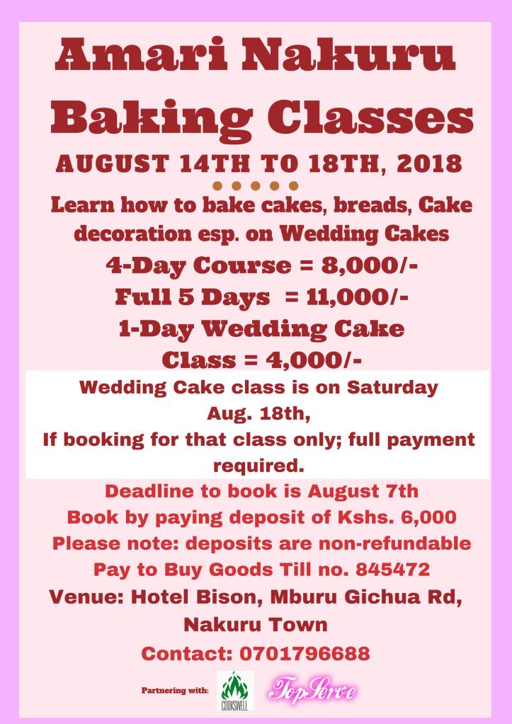 Amari Nakuru Classes in August 2018 Poster