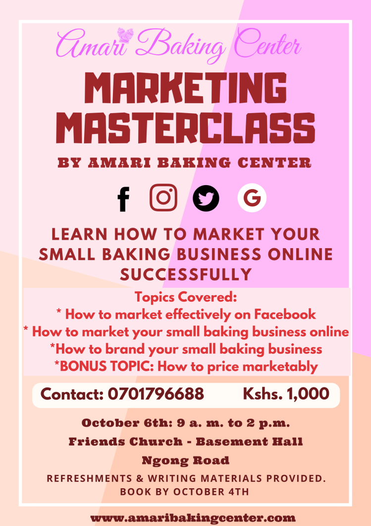 Amari Poster Marketing Masterclass Oct 2018