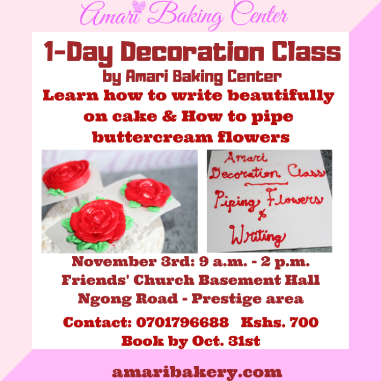 Amari Piping and writing Deco class SM poster Oct 2018