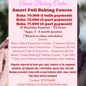 Amari Full Baking Course 2019 SM Poster