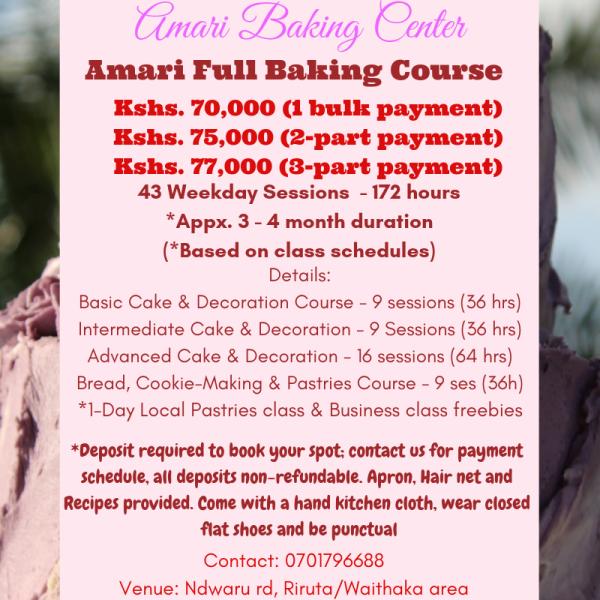 Amari Full Baking Course 2019 SM Poster