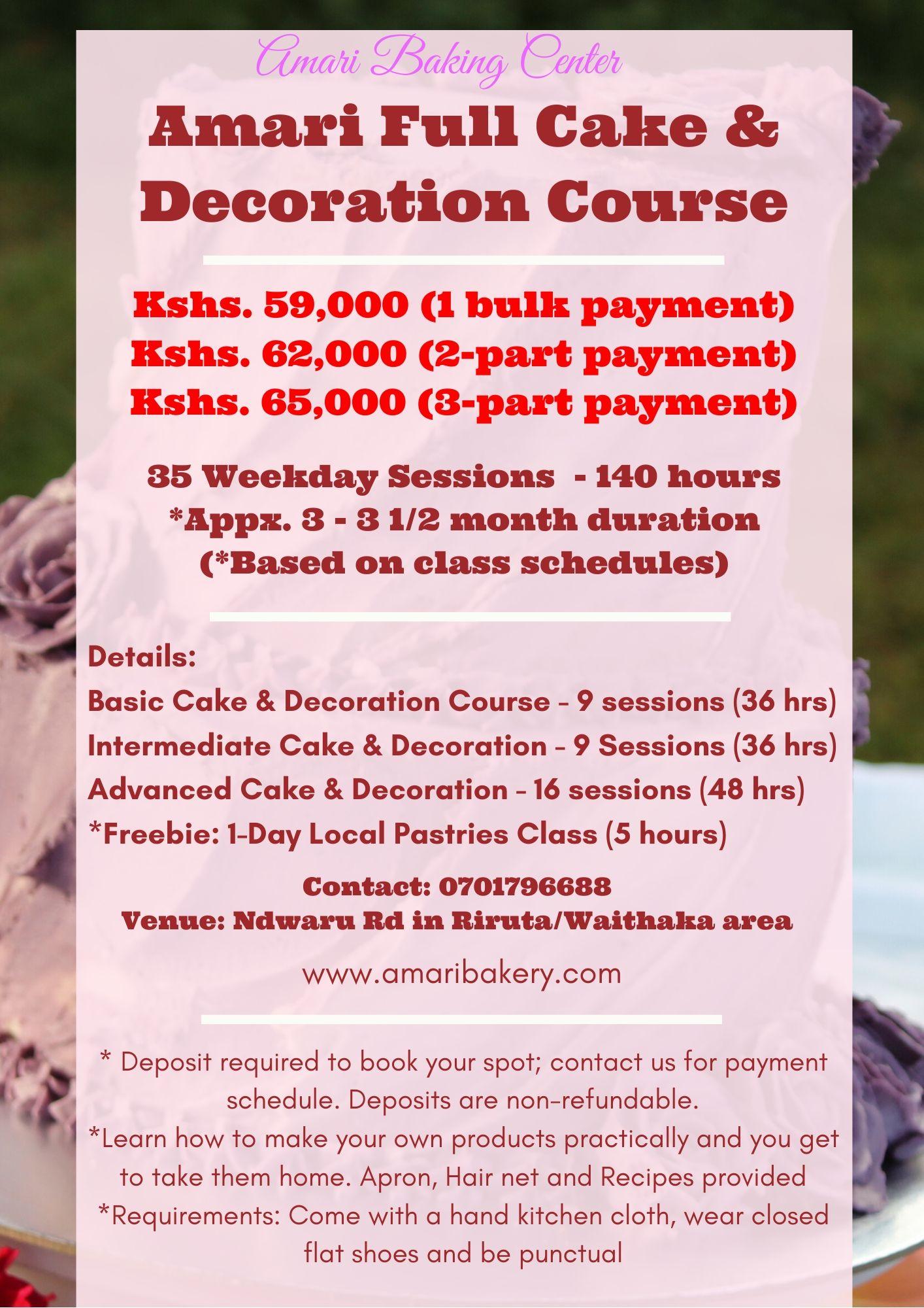 Amari Cake & Decoration Full Course 2020 poster