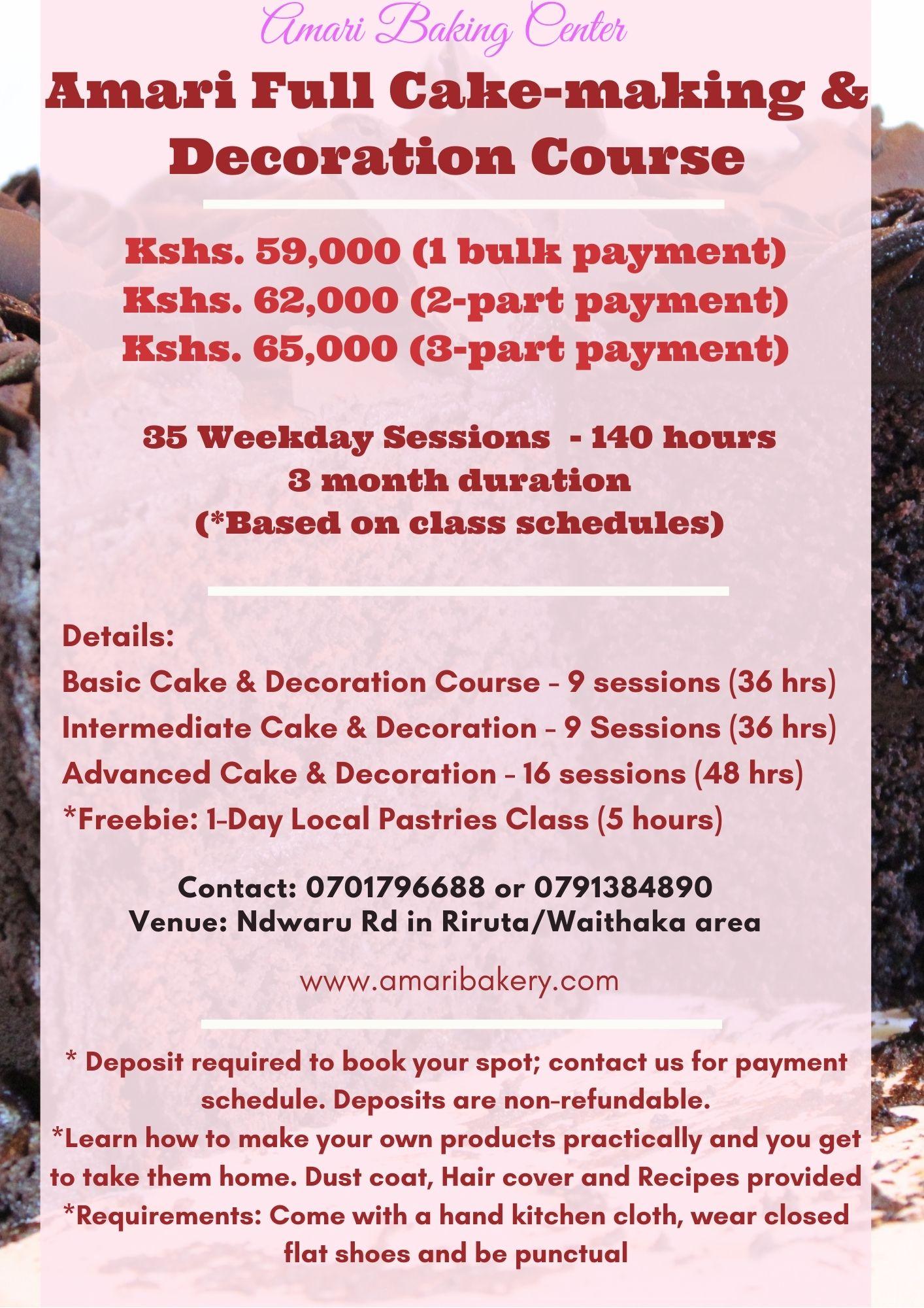 Full course Amari Cake & Decoration 2021 poster
